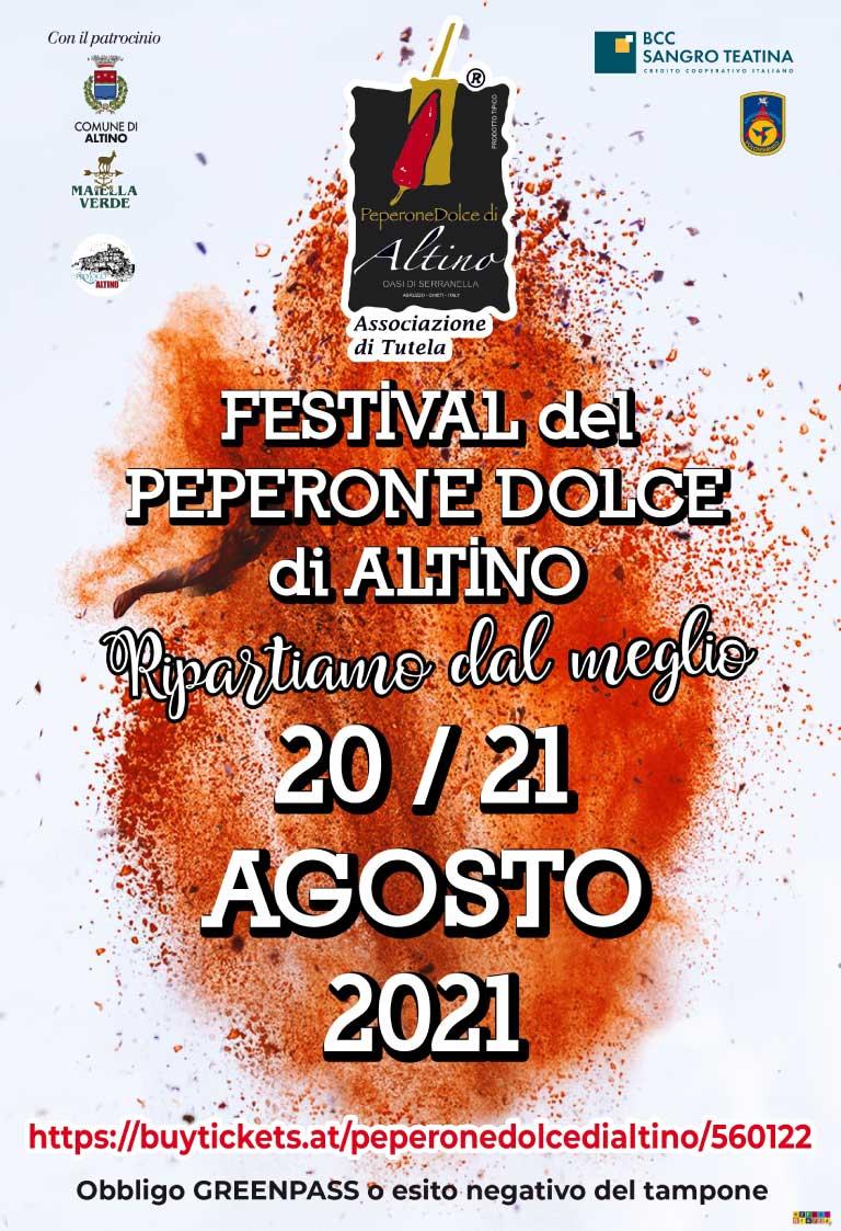 Locandina Festival Peperone Dolce di Altino